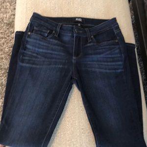 Paige Verdugo Ankle dark wash jeans.